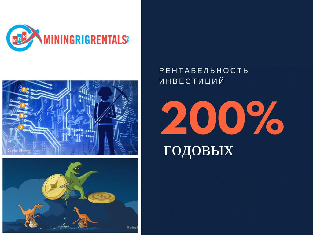 Рентабельность инвестиций Mining Rig Rentals