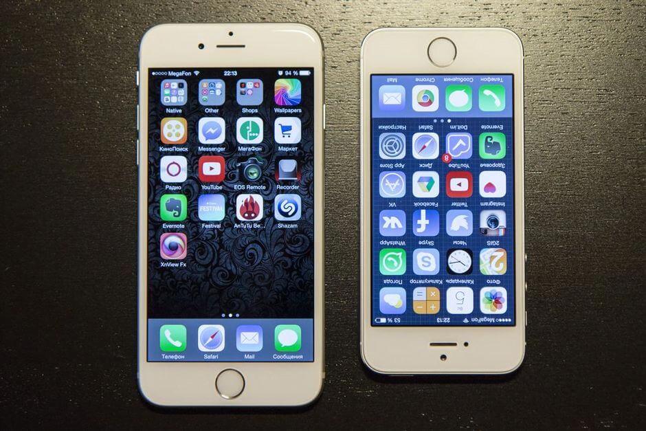 Сравнение iPhone 5 и 6