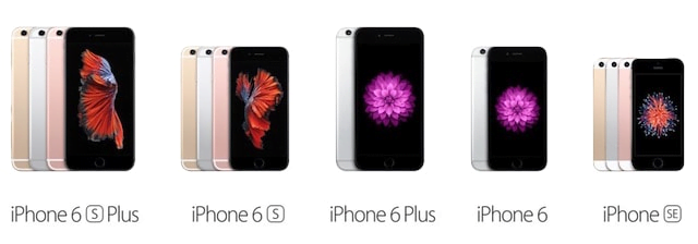 Сравнение iPhone 6, 6+, 6s и 6s+ и SE