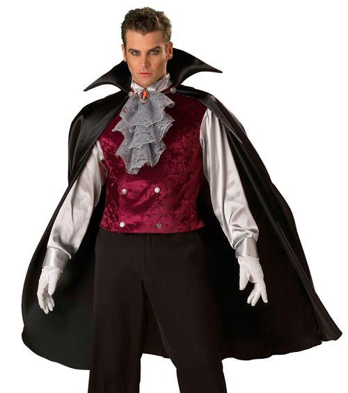Мужской образ вампира на хеллоуин
