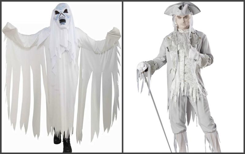 Образ призрака на хеллоуин