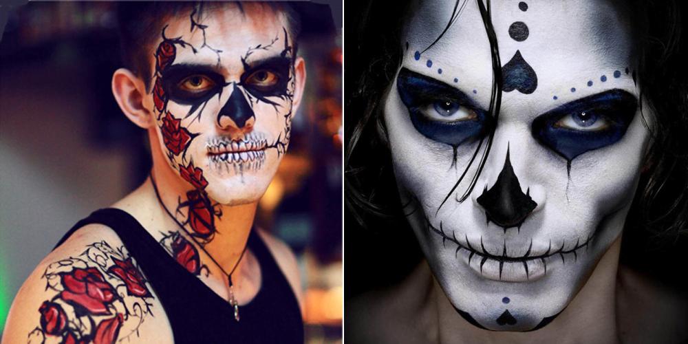 Образ скелета на хеллоуин